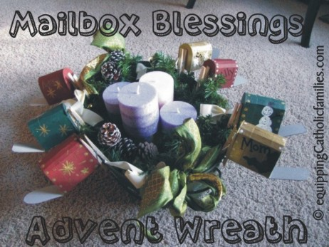 Advent Mailbox wreath
