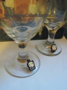 tiny saints wine glass charm
