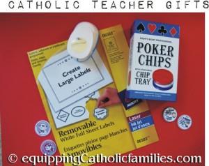 Catholic Poker Chips Teacher Gift