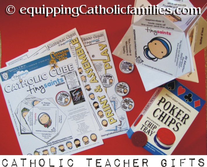 Catholic Teacher Gifts with Poker Chips