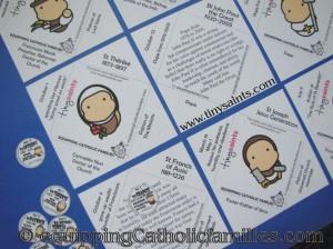 tiny saints bingo kit