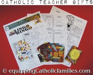 Catholic Bingo Teacher Gift