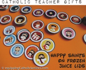 happy saints on frozen juice lids