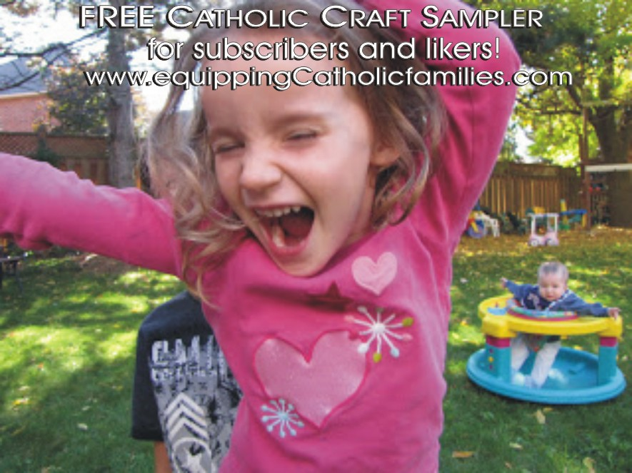 FREE Catholic Craft Sampler to subscribers and likers!