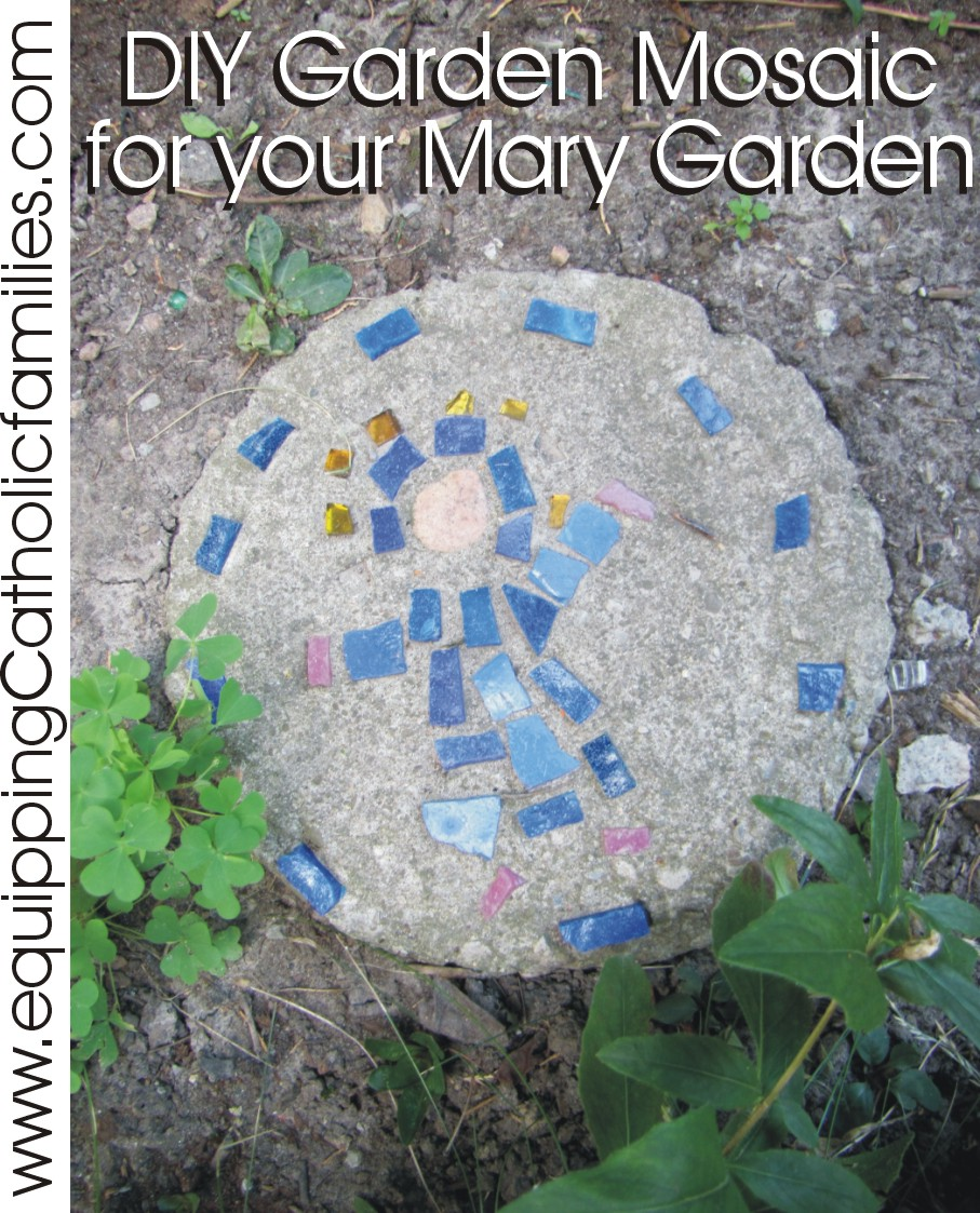 Mary Mosaic for the Garden