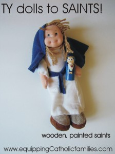 Mary TY doll to saint