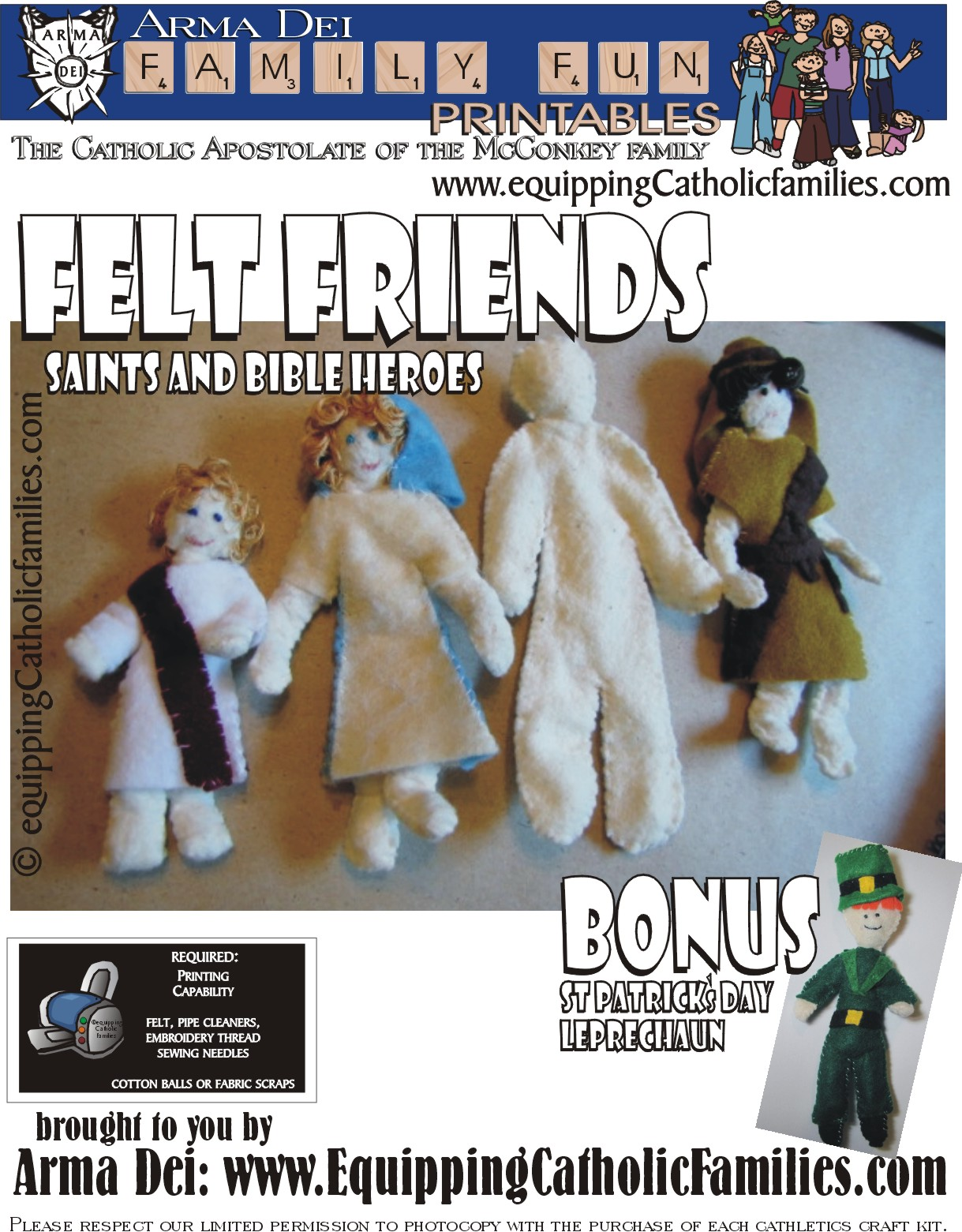 Felt Friends Tutorial with FREE printable!