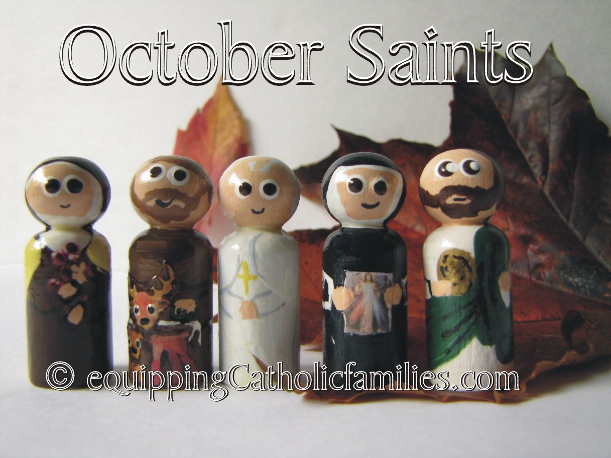 October Saints and St Therese!