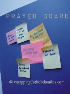 Post-It Prayer Board