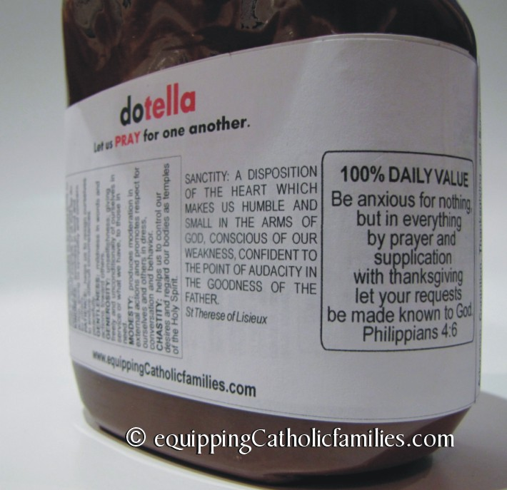picture regarding Jar of Nothing Printable Label Free identify dotella Prayer Jar - Equipping Catholic Households