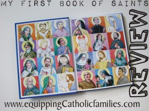 First Book of Saints inside cover