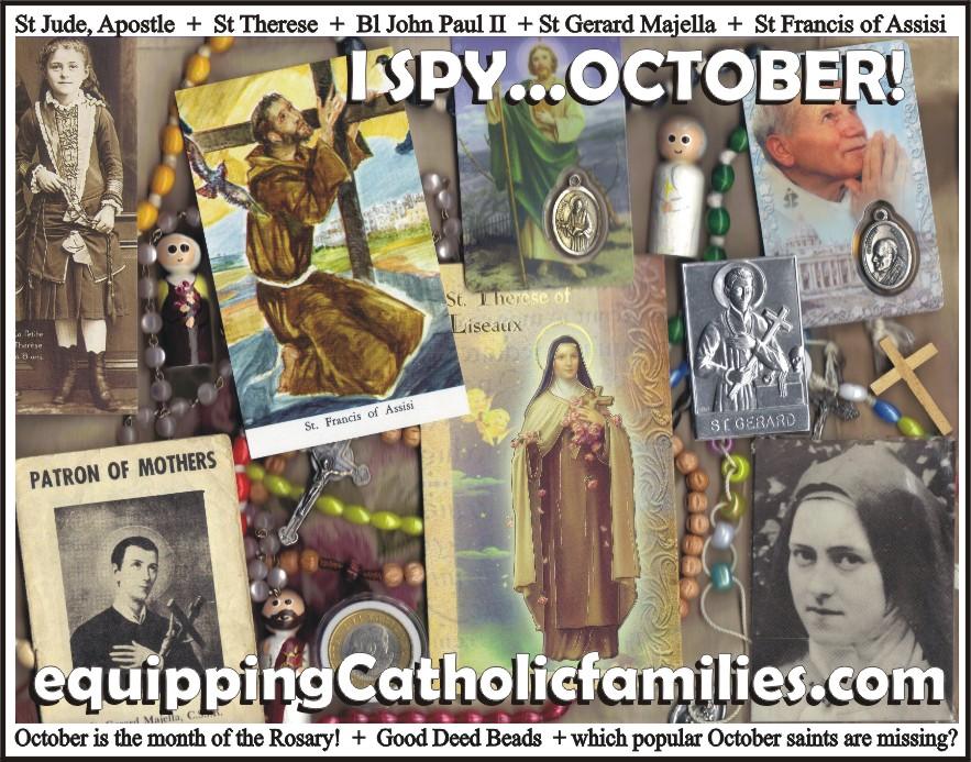 I Spy…October Saints!
