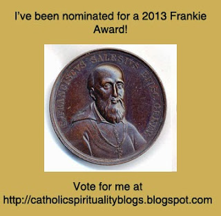 2013 Frankie Award: I've been nominated!