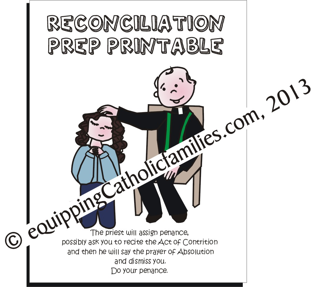 first reconciliation prep peek sheets printable equipping