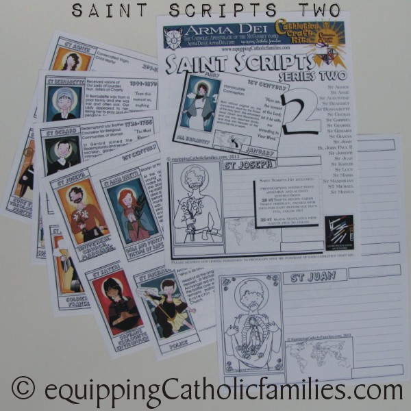 Saints Scripts Craft Kits Promo Pics (and age use)