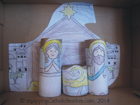 paper roll nativity