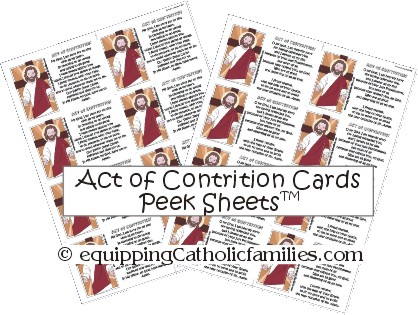 Act of Contrition Peek Sheets small