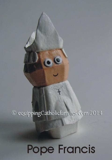 Egg Carton Pope Francis