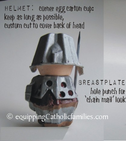 back of Egg Carton knight