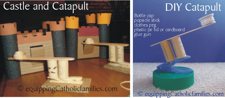catapult and castle