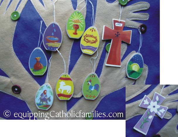 Egg Ornaments with reversible cross