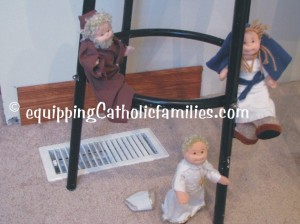 climbing TY dolls