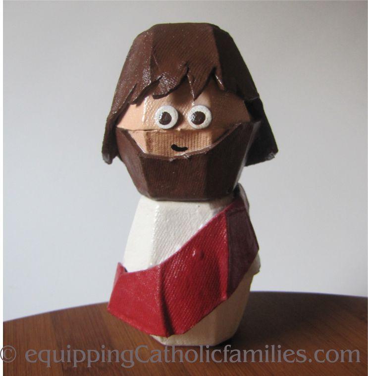 Jesus is Risen! (Egg Carton Jesus)