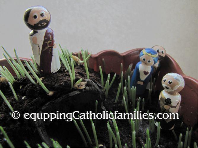 Cat Grass Easter Garden Craft