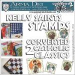 Kelly Saints Stamps: Converted 2 Catholic Classics