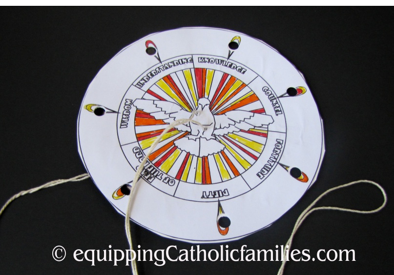 Holy Spirit Spin Wheel For Pentecost Equipping Catholic Families