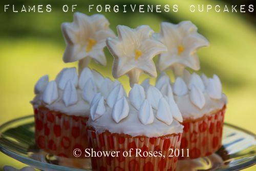 Shower of Roses Forgiveness Cupcakes