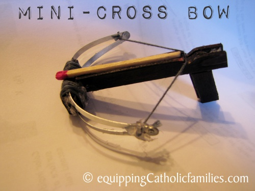 Flaming Mini Cross Bow