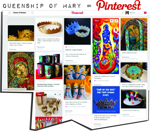 Queenship of Mary on Pinterest