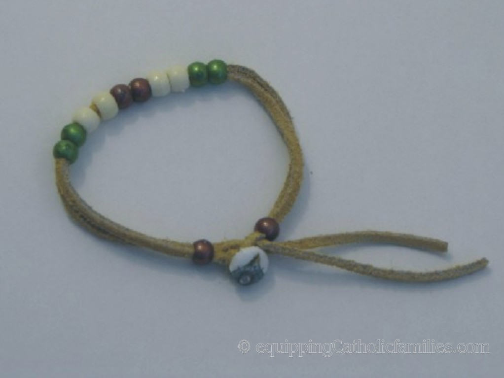 suede Good Deed Bead bracelet