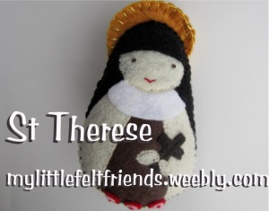 St Therese My Little Felt Friends