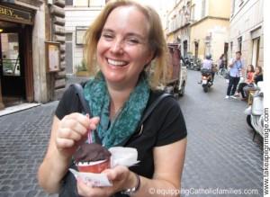chocolate covered gelato