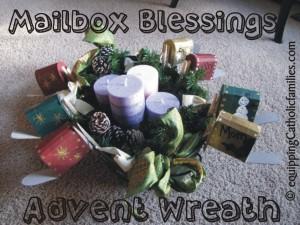 mailbox advent wreath