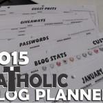 NEW Catholic Blog Planner for 2015!
