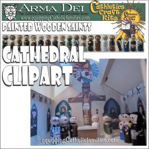 Cathedral Clipart Craft Kit
