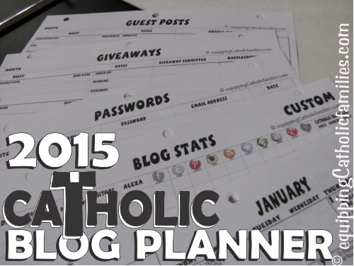 Catholic Blog Planner 2015