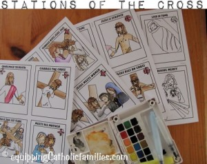 Stations of the Cross watercolor