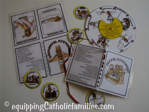 Have you started to say the Rosary as a family? New Mysteries of the Rosary Craft Kit!