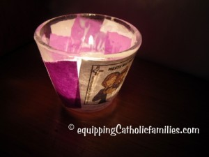 Stations of the Cross Votive Lent colors