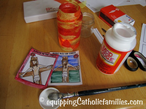 Stations of the cross votives supplies