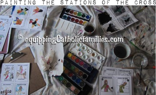 painting the stations