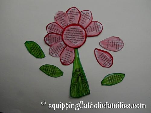 Divine Mercy prayer petal flower