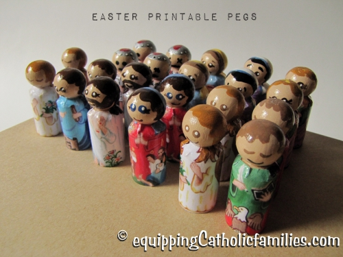 Easter set of printable pegs