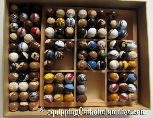 army of wooden painted saints