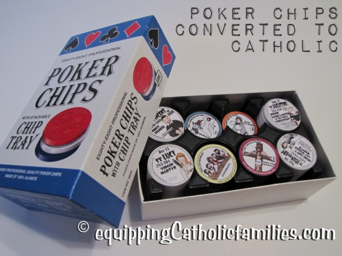 catholic poker chips