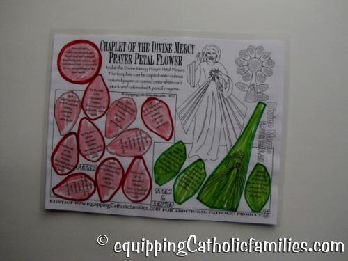 colored prayer petals Divine Mercy